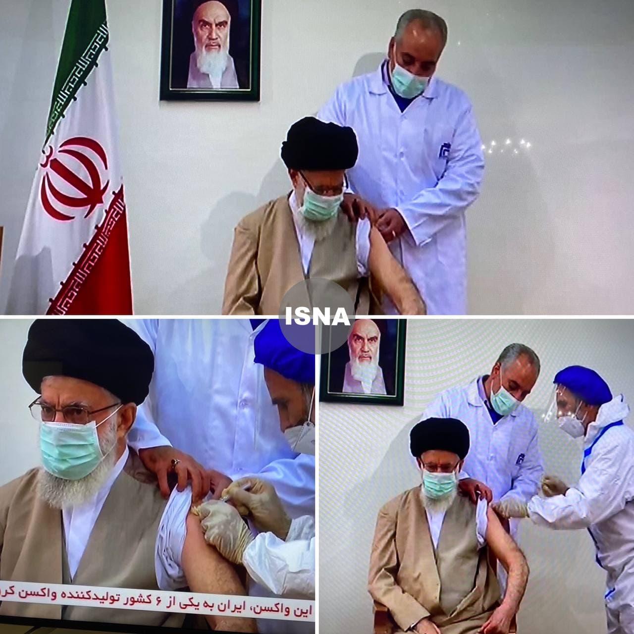 مقام معظم رهبری واکسن ایرانی زد (+عکس)