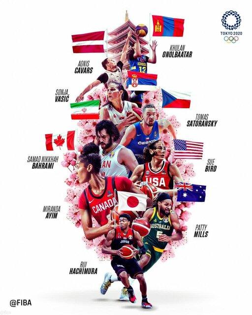 پوستر جالب FIBA از بسکتبالیستهای پرچمدار در المپیک