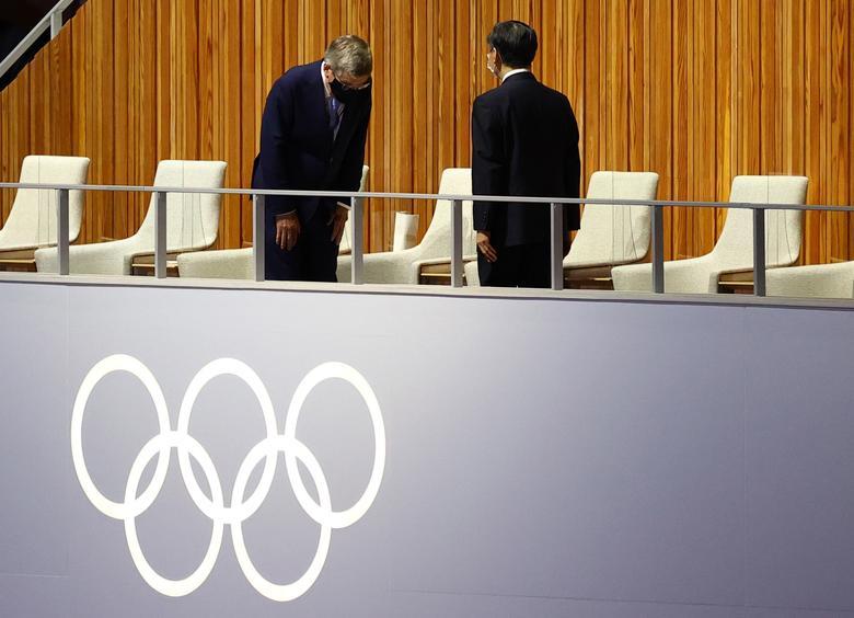 رئیس بازی های المپیک و امپراطور ژاپن