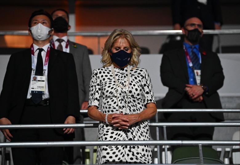 جیل بایدن در مراسم افتتاحیه المپیک