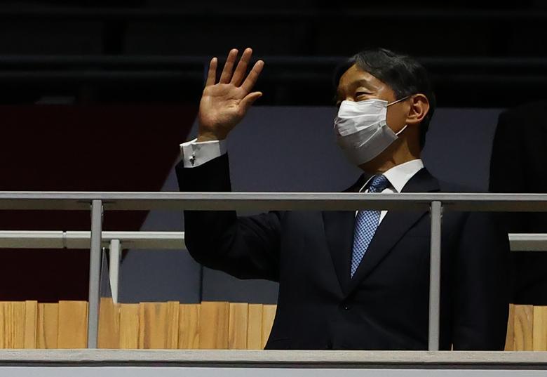 امپراطور زاپن در افتتاحیه المپیک ژاپن (عکس)