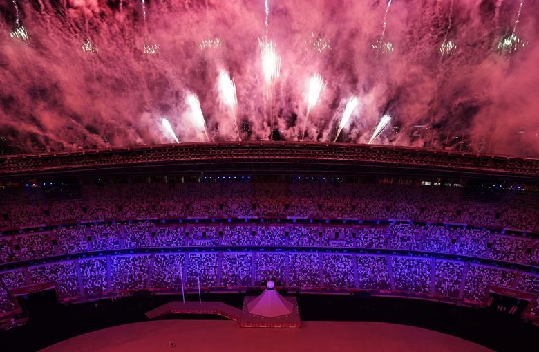 آتش بازی در افتتاحیه المپیک(عکس)
