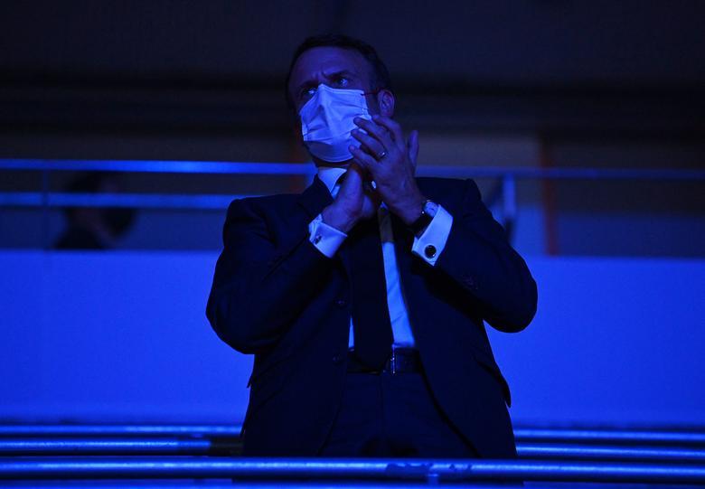 امانوئل مکرون در افتتاحیه مراسم المپیک