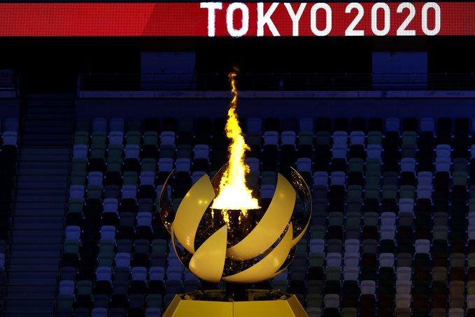 روشن شدن مشعل المپیک زاپن
