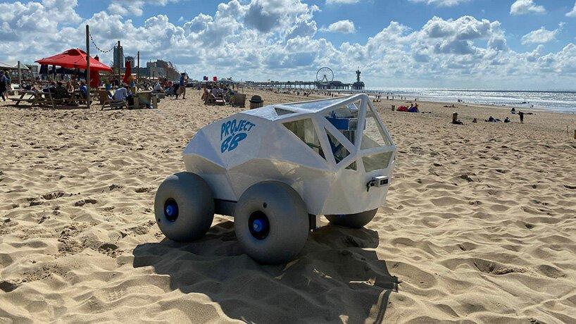 پاکسازی سواحل از ته سیگار با رباتی مجهز به هوش مصنوعی