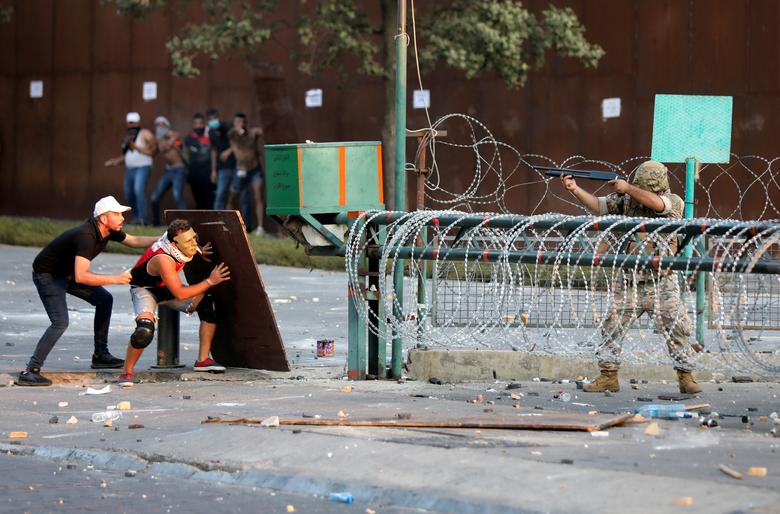 تظاهرات لبنان سالگرد انفجار بیروت