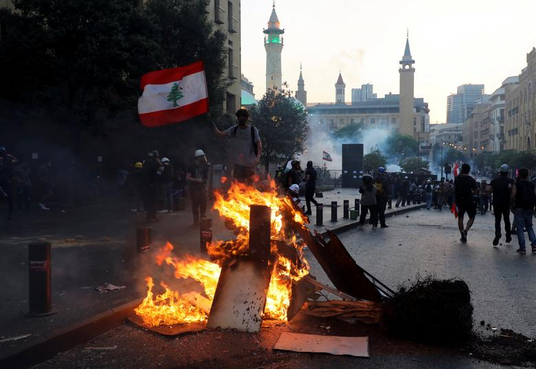 تظاهرات سالگرد انفجار بیروت