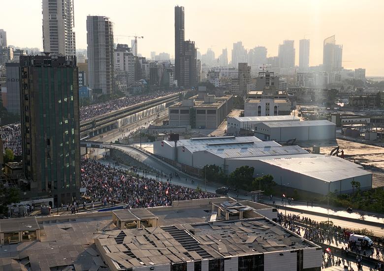 تظاهرات لبنان سالگرد انفجار بندر بیروت
