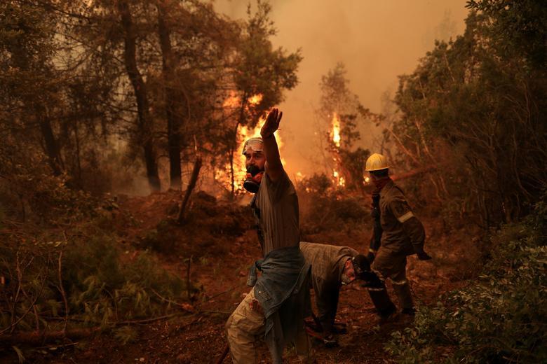 مدیترانه آتشین؛ 65 کشته در الجزایر/ شعله های آتش در یونان و ایتالیا