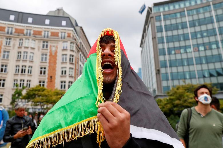 تظاهرات ضد طالبان در بلژیک