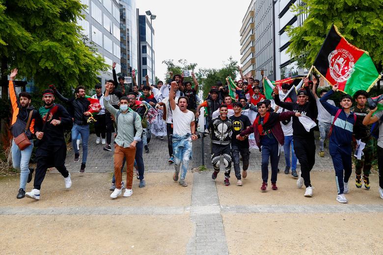 تظاهرات ضد طالبان بروکسل بلژیک