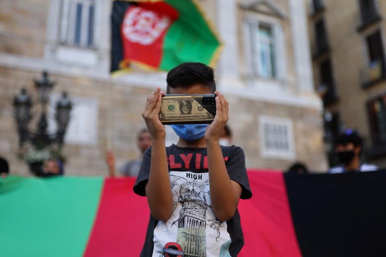 تظاهرات ضد طالبان در اسپانیا