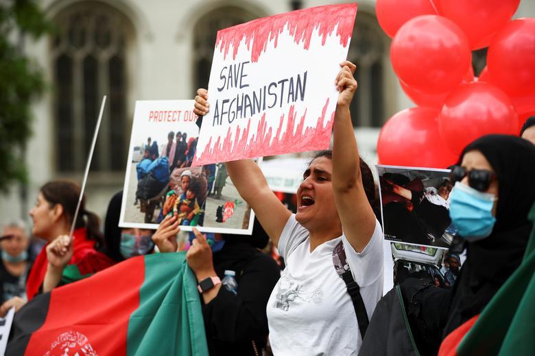 تظاهرات ضد طالبان بریتانیا