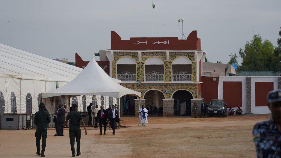 خیمه در کاخ امیر نیجریه برای مراسم عروسی