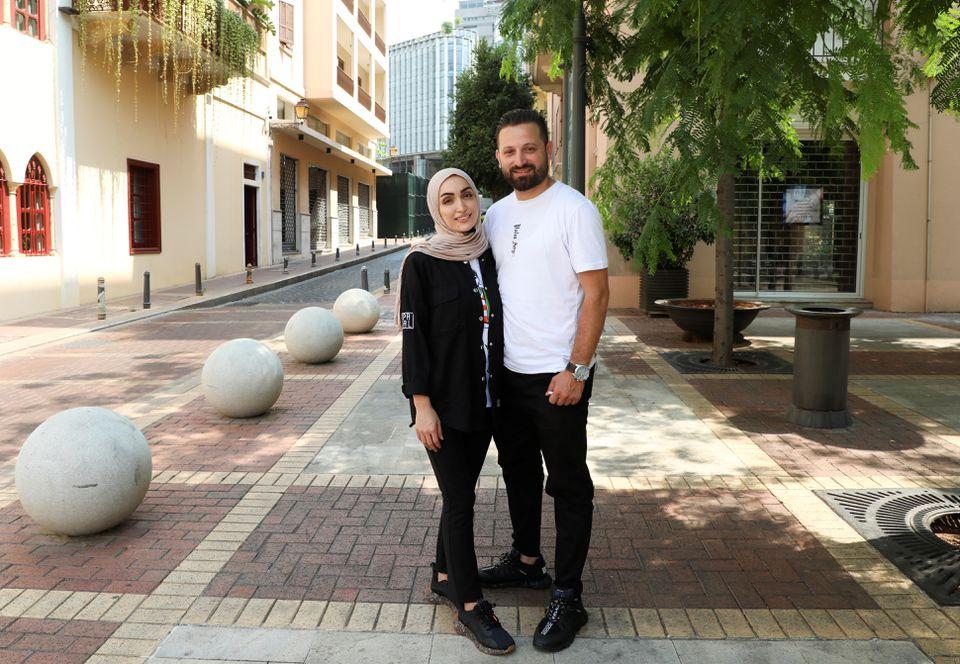 عروس لبنان و همسرش