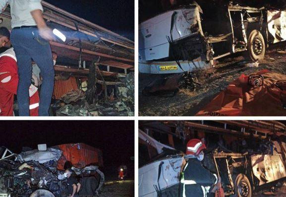 4 کشته در تصادف اتوبوس یزد - مشهد