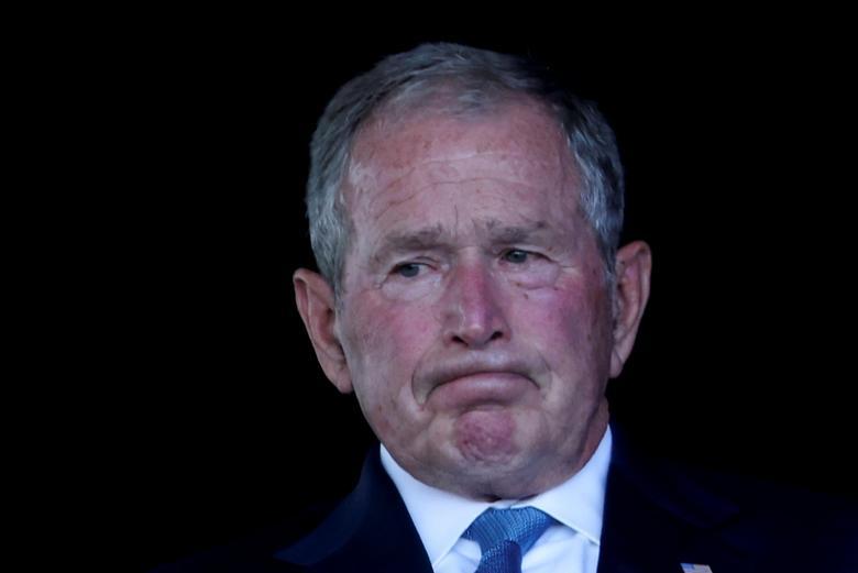 بوش در مراسم یادبود 11 سپتامبر