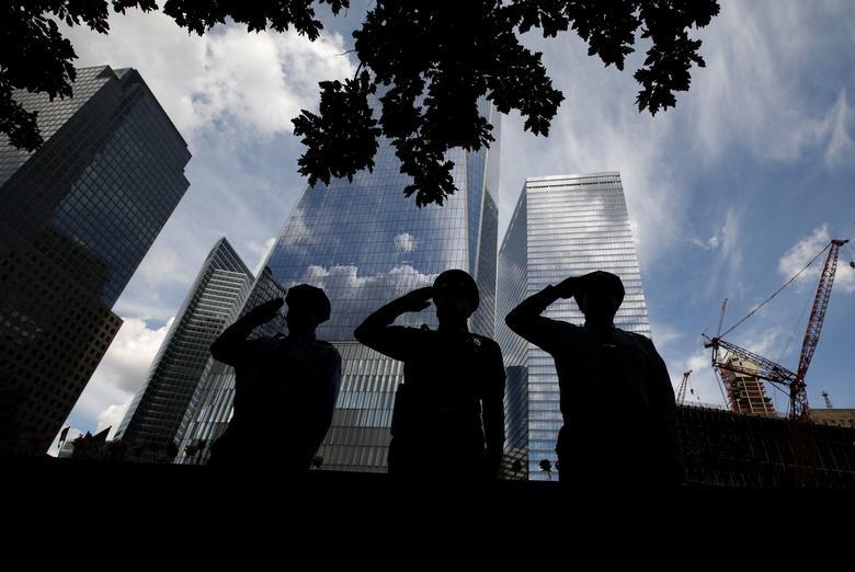 احترام به جانباختگان 11 سپتامبر در امریکا