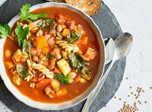 طرز تهیه سوپ غلیظ سبزیجات فصلی
