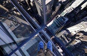آسمان خراش شیشهای نیویورک (+عکس)