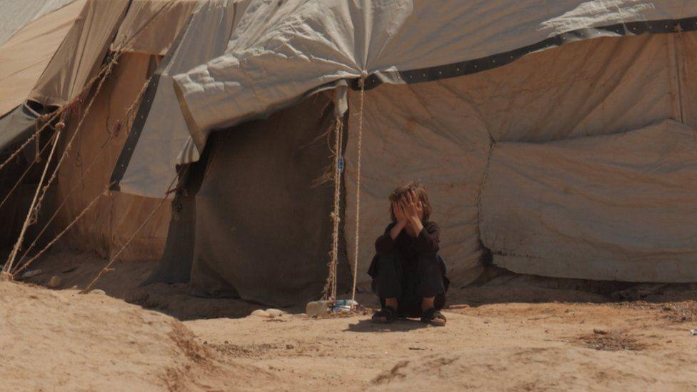 فرزند نیروهای داعش در یک اردوگاه در سوریه