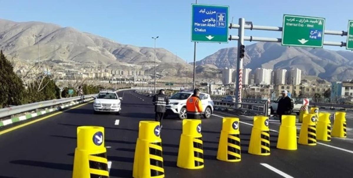 انسداد 4 روزه آزادراه تهران - شمال