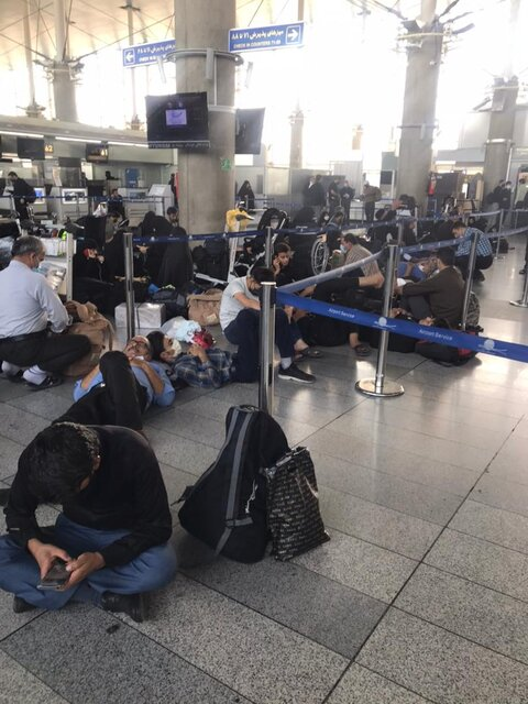سرگردانی زائران در فرودگاه بدون عذرخواهی و جبران خسارت