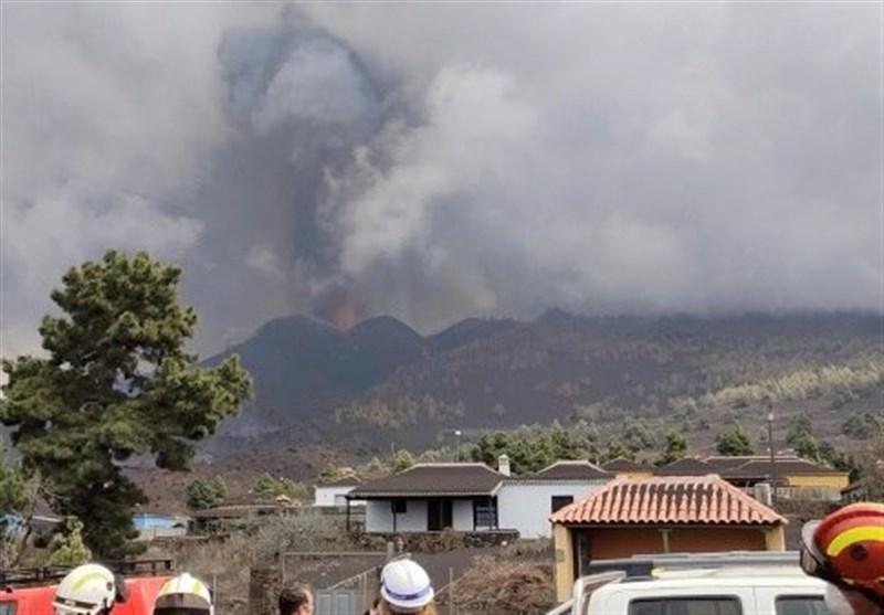 فوران آتشفشان لاپالما در اسپانیا