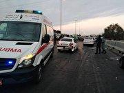 تصادف زنجیرهای ۳۰ خودرو در آزادراه کرج _ قزوین (فیلم)