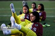 اردوی تیم فوتبال بانوان شهرداری سیرجان برای مسابقات قهرمانی باشگاههای آسیا (عکس)