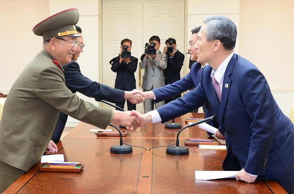 به نتیجه رسیدن مذاکره کنندگان دو کره در مذاکرات 2 روز گذشته در منطقه صفر مرزی
