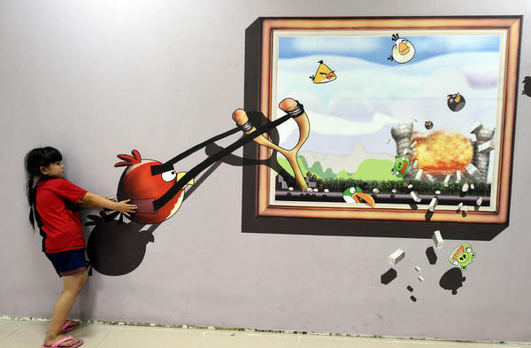 نمایشگاه تصاویر سه بعدی در شهر بوژو چین