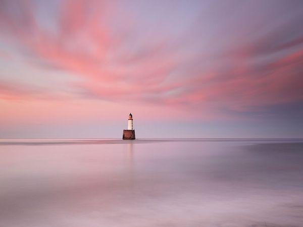 یک فانوس دریایی متعلق به قرن نوزدهم در اسکاتلند