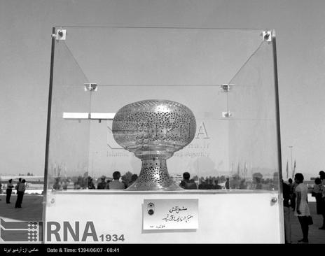 آتشدان هفتمین دوره بازی های آسیایی تهران در تصویر دیده می شود