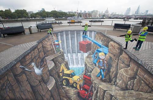 یک نقاشی سه بعدی در لندن