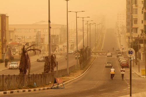 توفان شن در غزه