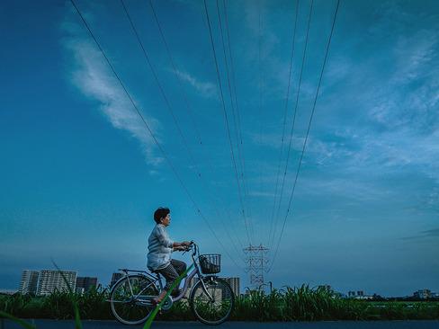 دوچرخه سواری در حاشیه رود تاما در توکیو