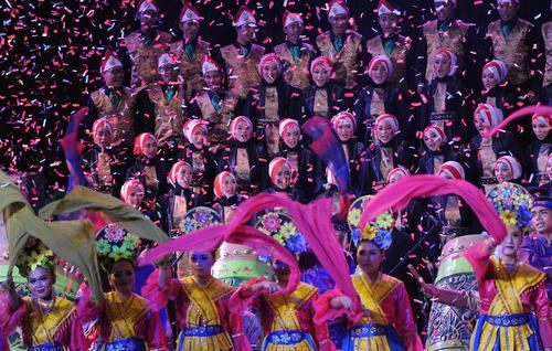مراسم رونمایی از لوگوی هجدمین دوره بازیهای آسیایی 2018 در شهر جاکارتا اندونزی