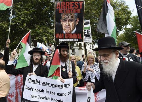 تظاهرات مخالفان نتانیاهو در لندن