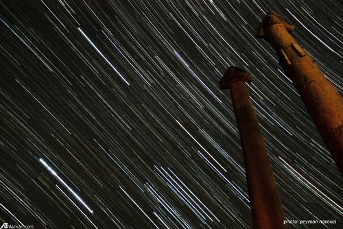 رد ستارگان بر فراز منطقه باستاني خورهه محلات