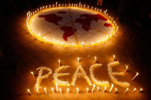 گردهمایی فعالان صلح در شهر کاتماندو نپال
