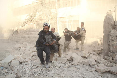 ویرانه های جنگ در شهر حلب سوریه