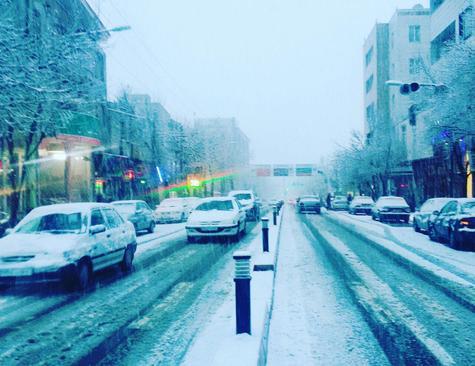 برف در الیگودرز- استان لرستان -مازیار مبشری