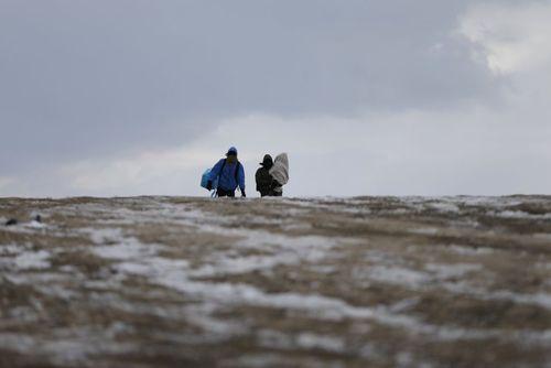 پناهجویان خاورمیانه ای در زمین های یخزده مرز مقدونیه و صربستان