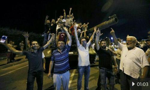 حمایت مردم از دولت در برابر کودتا