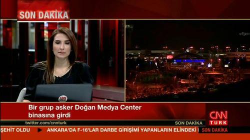 شبکه سی ان ان ترکیه توسط کودتاچیان تسخیر شد