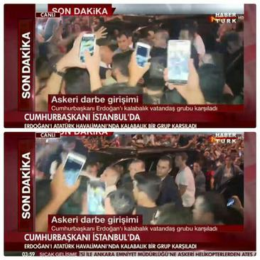 اردوغان وارد فرودگاه آتاتورک شد