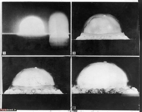 تصویر بالا توسط دوربینی ثبت شده که در فاصلهی ۹.۵ کیلومتری محل انفجار قرار داشته است. این دوربین فرآیند تشکیل قارچ را بصورت پشت سر هم ثبت کرده است.