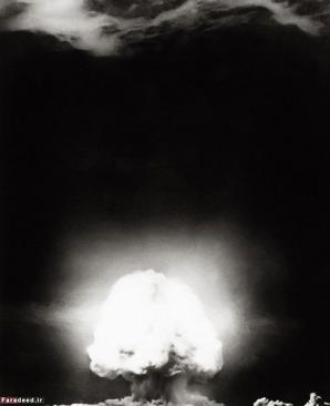 نمایی از اولین انفجار اتمی جهان در  ۵۶ کیلومتری ساکورو نیومکزیکو