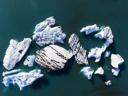 کوه های یخی در ایسلند